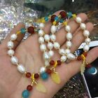 Top! Natural freshwater White pearl beads jewelry bracelet