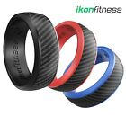 IKonfittness 3 Colors Silicone Ring Rubber Antibacterial Wedding Band Men Women