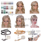 1920s Flapper Headpiece Great Gatsby Wedding Jewelry Set Bridal Hair Accessories image