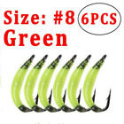 3 Colors 6 PCS-Lot  Size #8 garden worm fly Earth worm Fly Fishing Nymph Bugs