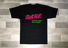 Vintage Black DARE T-Shirt Brand New Pink Neon Dare Logo Rare Vintage 90's Tees image
