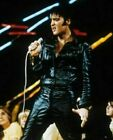 MENS ROCK N ROLL BLACK REAL LEATHER JACKET PANT ELVIS PRESLEY HALLOWEEN COSTUME