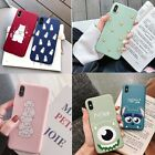For iPhone XS Max XR X 8 7 6 Plus Patterned Soft Silicone Shockproof Case Cover
