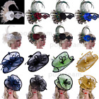 Vintage 1920s Flapper Hat Gatsby Tea Party Wedding Accessories Peacock Headpiece