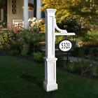 Mayne Adress Sign Holder Post Stand Outdoor Patio Garden Decor UV Protected Home