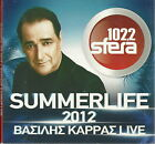 Vasilis KARRAS SUMMERLIFE 2012 Live Foivos Hatzigiannis 28 tracks Greek CD