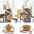 Womens Summer Beach Tote Handbag Ladies Rattan Straw Wicker Crossbody Bag Basket