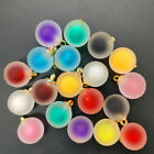 NEW 8PCS 16MM Acrylic Bottles Frosted Beads Charm Pendant Ornaments Jewelry C