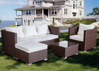 Rattan Lounger Sofa Set Garden Furniture Patio Corner Outdoor Conservatory Unit