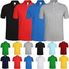 Men's Polo Shirt Dri-Fit Golf Sports Plain Solid Jersey Casual Cotton T Shirt