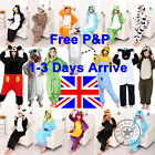 UK STOCK Onsie Mens Ladies Jump Suit Adult Animal Cosplay Party Costume Pajamas
