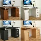 Otley Computer Desk 3 Drawer PC Laptop Keyboard Table Office Home Workstation