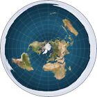 Flat Earth Circle Vinyl Sticker Car Window Conspiracy Cosmography Laptop Theory