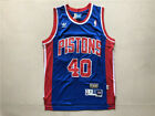 NEW Detroit Pistons #40 Bill Laimbeer Retro Swingman Basketball Jersey Blue on eBay