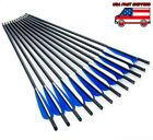 """US Stock 12/24pcs 8.8mm 20"""" Carbon Arrows For Crossbow Archery Outdoor Hunting"""
