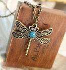 Animal Necklace Natural Stone Dragonfly Pendant Jewelry Fress Shipping2.015