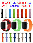Replacement Sports Silicone Nylon Band for Apple Watch Series 4/3/2/1 38mm 42mm image