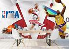 3D NBA Basketball Star Self-adhesive Removable Wallpaper Feature Wall Mural 6 on eBay