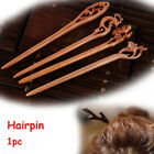 Vinatge Lady Ethnic Women's Wooden Handmade Carved Hair Stick Pin Wood 4-styles