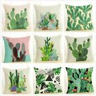 Bedroom Decorative Car Seat Throw Pillow Cover Cactus Series Plant Cushion Cover image
