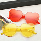 Fashion Girl Heart-shaped Rimless Candy Colorful Sunglasses Anti-UV  Glasses for sale  Shipping to United States