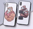 Phone Case For iPhone 3D Relief Cartoon Animal Health Plastic Case Back Cover