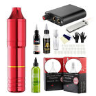 Complete Tattoo Kit Motor Pen Machine Gun Inks Power Supply Needles US Stock