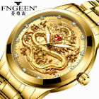 Golden Dragon Men's Luxury Stainless Steel Sport Quartz Watch *US Fast Free Ship image