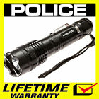 POLICE METAL Stun Gun 1158 500 BV Rechargeable With LED Flashlight