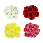Top Home Decor Sites 50Pcs Various Artificial Silk Fake Rose Flower Heads Bulk Wedding Party Decor Yu