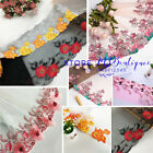 Flower Embroidery Tulle Lace Trim Ribbon for Dess Skirt Sewing Crafts DIY FP230
