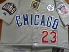 GRAY Brand New Ryne Sandberg Chicago Cubs #23 Cooperstown w/3Patches SEWN Jersey on Ebay