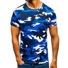 Mens Short Sleeve Camouflage Camo Military T-Shirt Slim Fit Army Combat Tops Tee