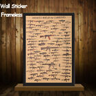 War Ii Tank Home Decor Kraft Paper Wall Sticker Vintage Posters Famous Rifles