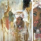 "28W""x36H"" SECRETS KEPT by MARTA WILEY -ETHNIC AFRICA HAIR WRAP CHOICES of CANVAS"