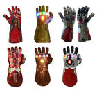 Thanos N Iron Man Infinity Gauntlet LED Light Gloves Avengers Infinity War Prop