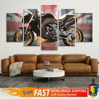 5 Pieces Home Decor Canvas Print Motorcycle Wall Art Bulldog Triumph Speed Bike $27.09 CAD on eBay