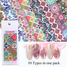 Holographic Flower Nail Foils Decal Nail Art Transfer Stickers Decoration Tips