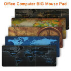 Old World Map Gaming Mouse Pad Large Lockedge Mouse Mat Keyboard Pads Desk Mat