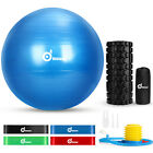 Exercise Yoga Ball Kit Fitness Foam Roller Resistance Muscle Therapy Exercise image