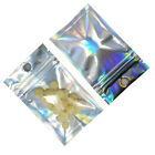 Glittery Zipper Seal Mylar Plastic Bags Reclosable Storage Grade Food Package
