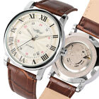 WINNER Top Brand Luxury Men's Mechanical Automatic Wrist Watches  Leather Band image
