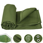 Multi-size Canvas Tarp Green Cotton Tarpaulin Heavy Duty Supplies 18 OZ