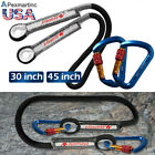 Carabiner Lock + Prusik Loop Pre-sewn Rope Spliced Eye-to-eye Cord Climbing Gear