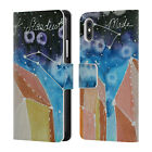 LAUREN MOSS AGATES & CRYSTALS LEATHER BOOK WALLET CASE FOR APPLE iPHONE PHONES