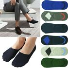 Mens GK Invisible Nonslip Loafer Cotton No Show Solid Argyle Low Cut Boat Socks