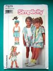 Simplicity Sewing Pattern Toddler Child Dress Hat Pants Poncho Jacket You Choose