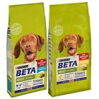 Purina Beta Adult Dog Food Chicken / Turkey & Lamb Complete Dry Kibble 2kg, 14kg