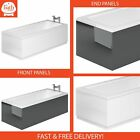 Adjustable Height Bath Panels Front 1800mm End 800mm Panel White Grey