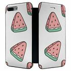 iPhone 7 PLUS Full Flip Wallet Case Cover Watermelon Pattern - S3378